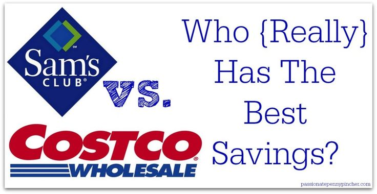 Sam's Club Vs. Costco Prices - see how the prices break down at Sam's & Costco before you shop!