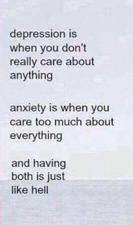 Depression does mess with me as bad as the panic attacks do. Damn, I hate not being able to breathe...