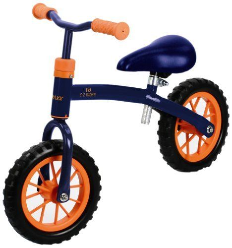 Hauck Traxx E-Z Rider 10 Learning Bike, Techno Navy by Hauck / Traxx. $47.14. From the Manufacturer                Learn to ride in style. The EZ-Rider 10 is the perfect introduction to life on two wheels for any kid. The EZ-Rider 10's frame is a comfortable size that makes riding a lot of fun. Learning essential balance skills has never been more fun.                                    Product Description                Learn to ride in style, the EZ-Rider 10 is the ...