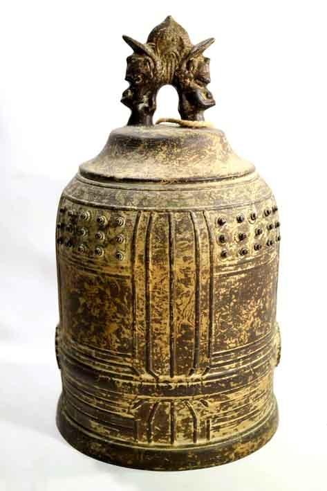 Antique bronze japanese bell  19th century