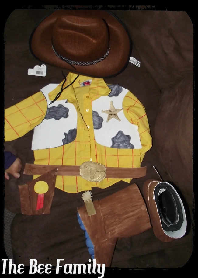 The Bee Family: DIY Sheriff Woody Costume