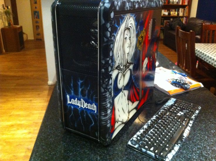 Lady Death theme PC Case - SOLD -
