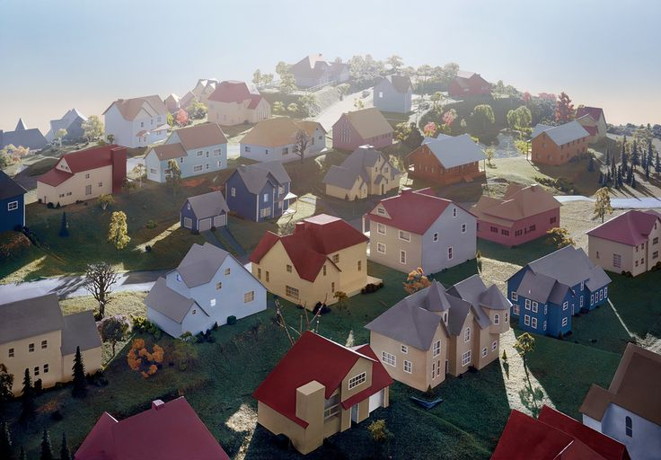 James Casebere, Landscape With Houses (Duchess County, NY) #1