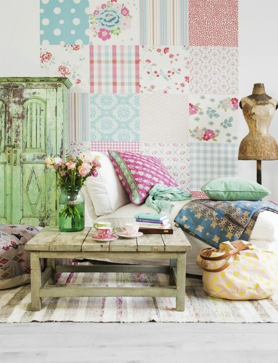 hum m m m mount squares of quilt fabric on foam core to match or english homesdecorating - Wallpaper For Homes Decorating