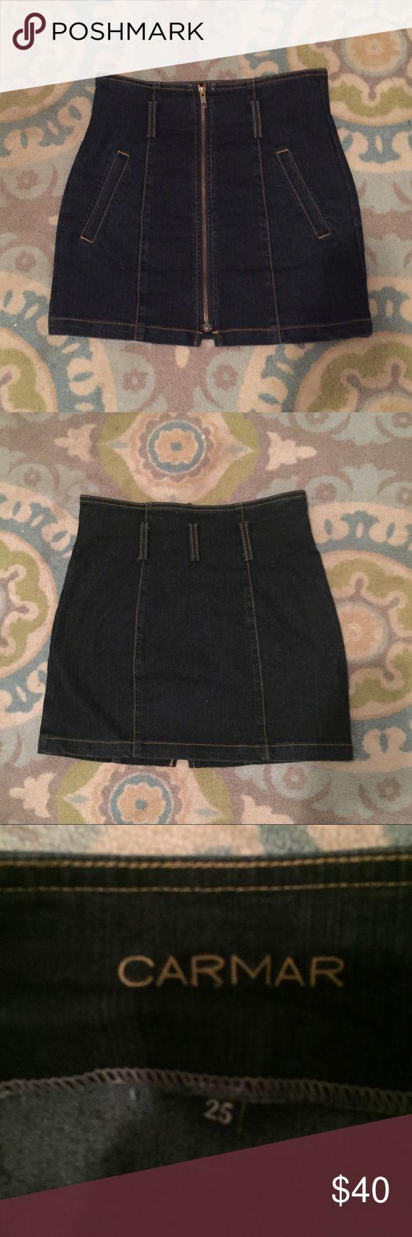 Carmar Denim zip up skirt Carmar brand zip up skirt.  So cute for spring and summer. LF Skirts Mini