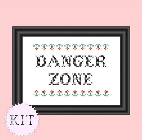 Hey, I found this really awesome Etsy listing at https://www.etsy.com/listing/153208575/kit-cross-stitch-danger-zone-archer