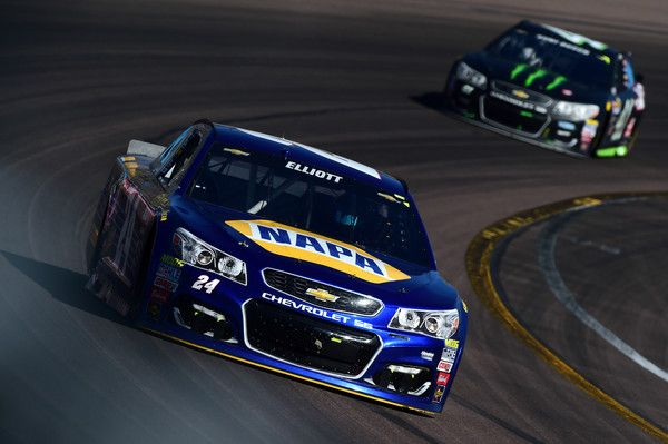 Chase Elliott Photos Photos - Chase Elliott, driver of the #24 NAPA Auto Parts Chevrolet, leads Chase Elliott, driver of the #24 NAPA Auto Parts Chevrolet, during the NASCAR Sprint Cup Series Good Sam 500 at Phoenix International Raceway on March 13, 2016 in Avondale, Arizona. - NASCAR Sprint Cup Series Good Sam 500