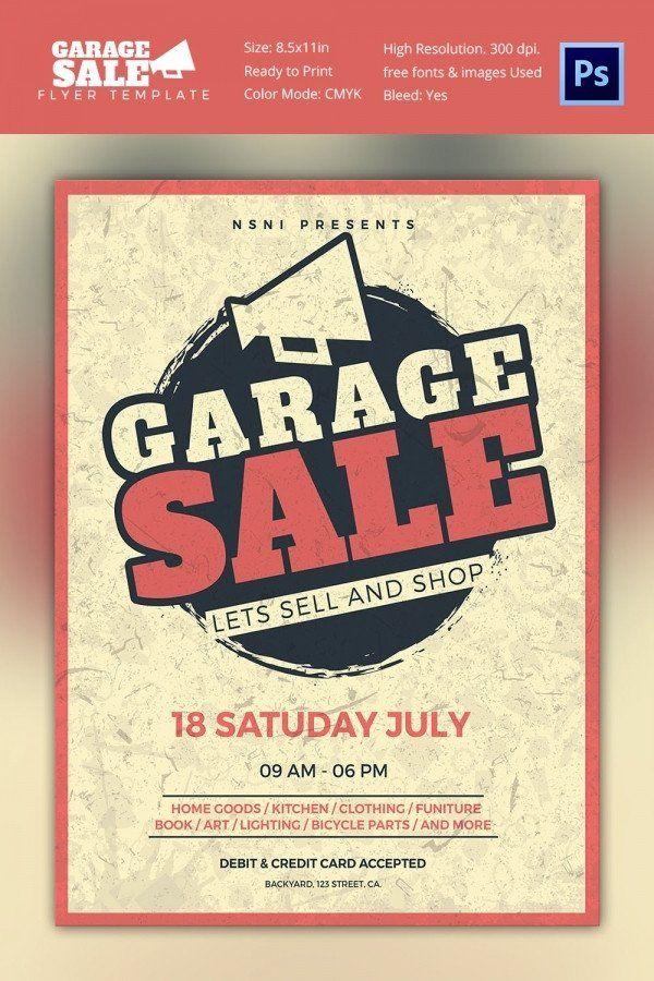 Garage Sale Flyer Template Free 14 Best Yard Sale Flyer Templates Psd Designs Flyer Template Sale Flyer Flyer
