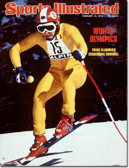 Franz Klammer/Austrian Alpine Skier. 1976 - Innsbruck, Austria Olympics, Downhill.  THE Gold Medal run of all time.