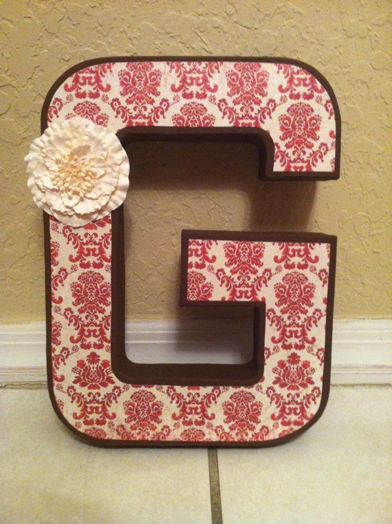 12 inch paper mache letter custom made in by kraftylawyerdesigns 3000