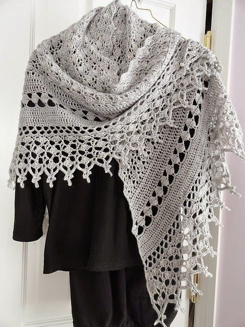 Free Crochet Edging Patterns For Shawls : 17 Best images about Crochet - Shawls/ Wraps on Pinterest ...