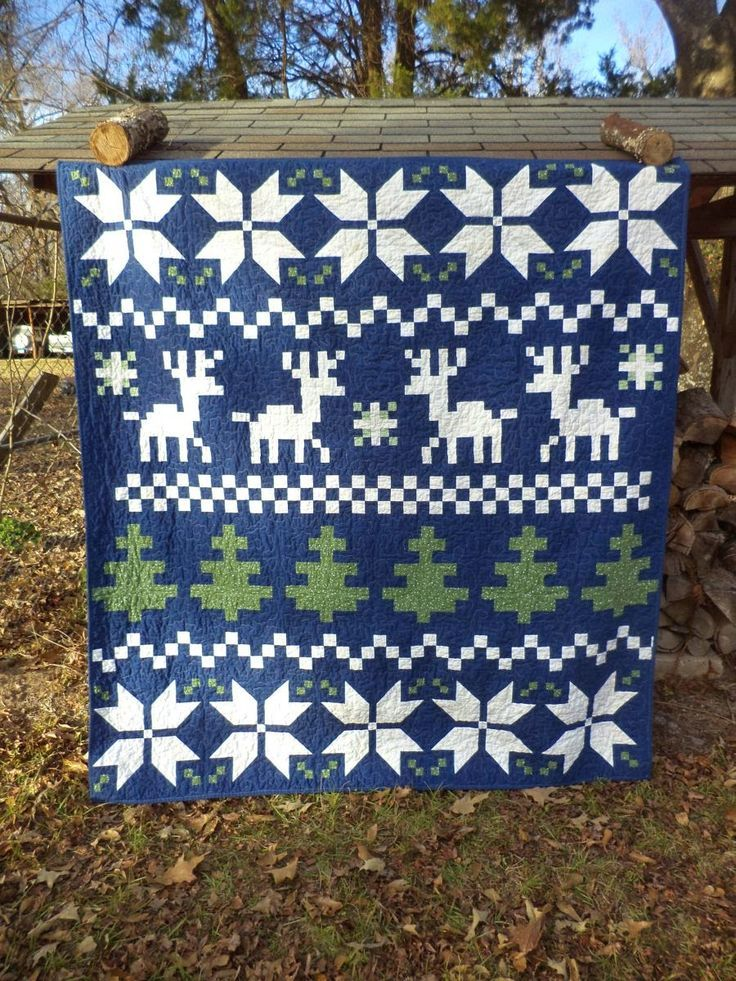 Kat & Cat Quilts: Fair Isle Christmas Quilt