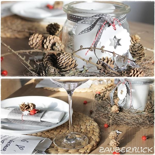 Herbst-Tischdeko  Weihnachten  Pinterest