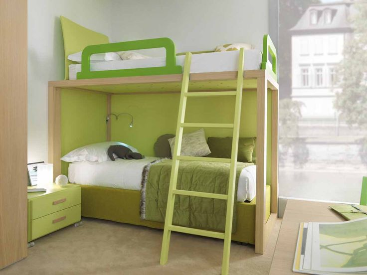 Green Bunk Beds For Kids   For More Awesome Bunk Bed Ideas Take A Look At