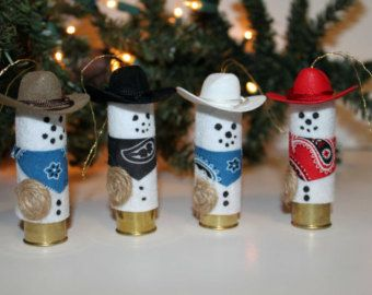 Cowboy Snowman Shotgun Shell Christmas by CraftyCountryCorner