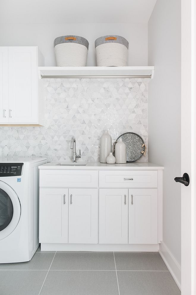 Laundry Room Backsplash Marble Mosaic Tile Laundry Room