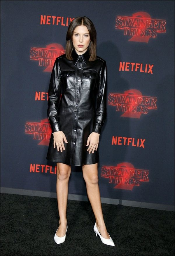 La actriz de 13 años, Millie Bobby Brown, se convirtió en un ícono de estilo