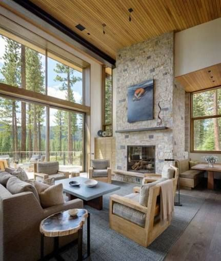 Montana Ranch House By Suyama Peterson Deguchi: 62+ Trendy House Interior Ideas Lounge Home #house