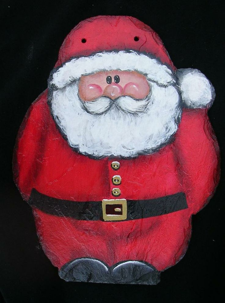 holiday painting on slate | Slate Paintings for Christmas including personalized and custom slates