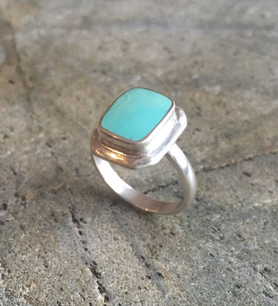 Turquoise Ring Natural Turquoise Sleeping Beauty by AdinaStone
