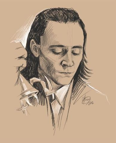 If I ever had to pick my favorite villain, Loki would definitely be at the top of my list! This portrait was gorgeously and subtly done to perfection! My kudos to the amazing creator of this portrait!