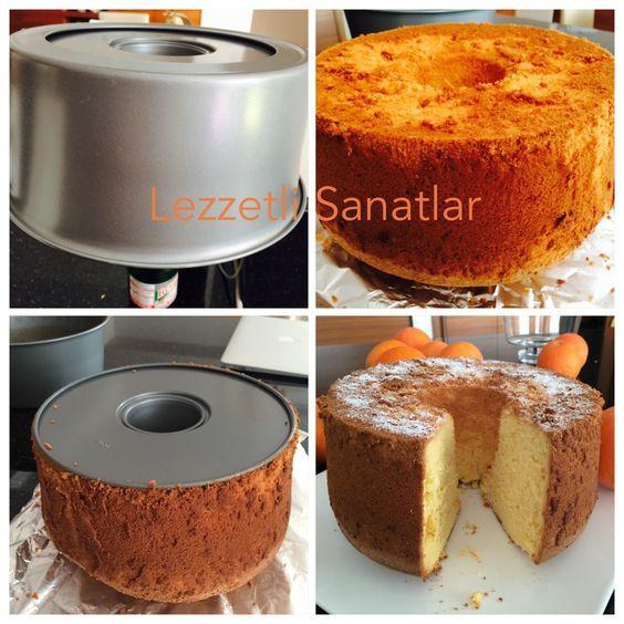 Tüy gibi hafif kek = Şifon Kek Ağızda dağılan, bir anda yok olan, pamuk gi…