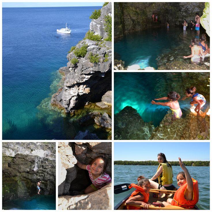 The Amazing Bruce Peninsula Cove, with Joseph, Chanel and Maya.