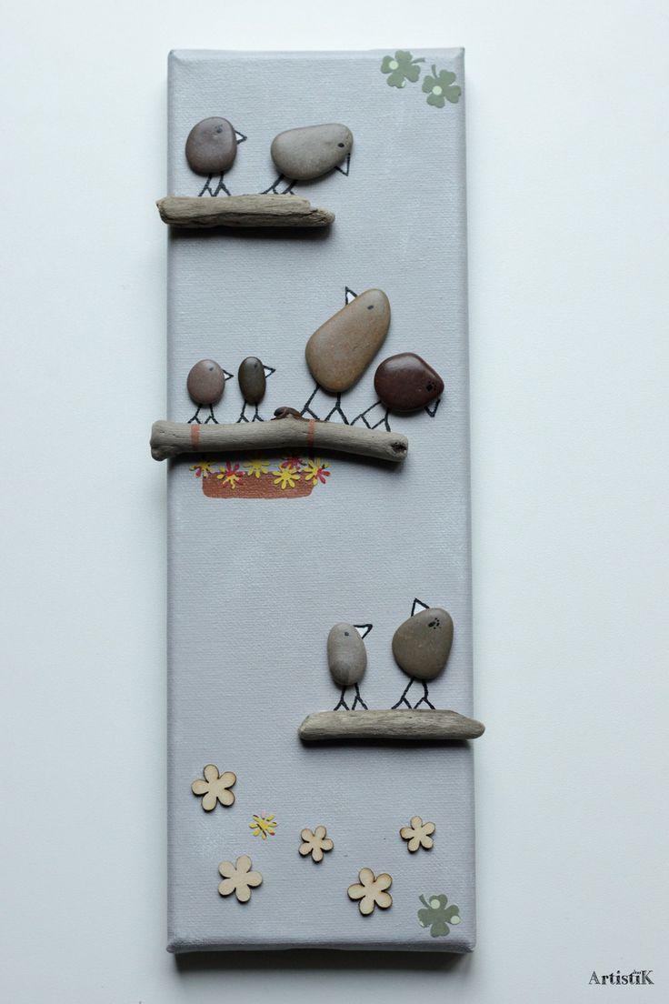 Les 85 meilleures images propos de tableaux galets for Decoration bois flotte galet