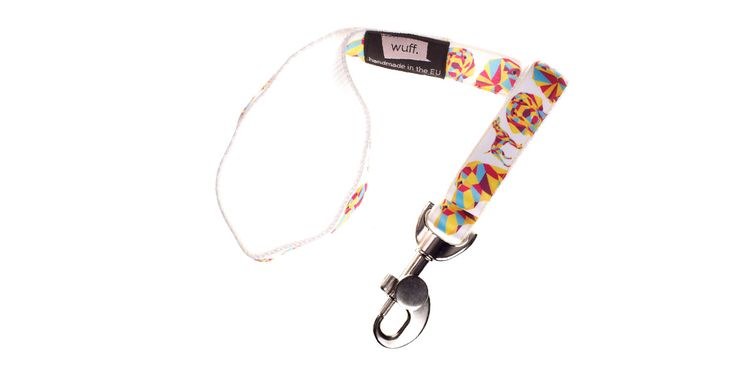 Vizsla Dog Leash White Not only Hungarian Vizslas, Deutsche Kurzhaars, Bracco Italianos and Weimaraners but Pointers also look great wearing this WUFF leash. http://www.wuffcollars.com/en/item/Vizsla_Leash-122 Item Code: 122