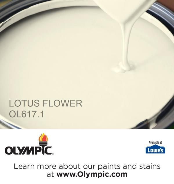 LOTUS FLOWER OL617.1 is a part of the off-whites collection by Olympic® Paint.