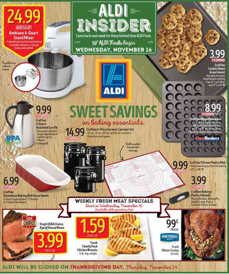 Aldi In Store Ad November 16, 2016 - http://www.olcatalog.com/grocery/aldi-weekly-ad.html