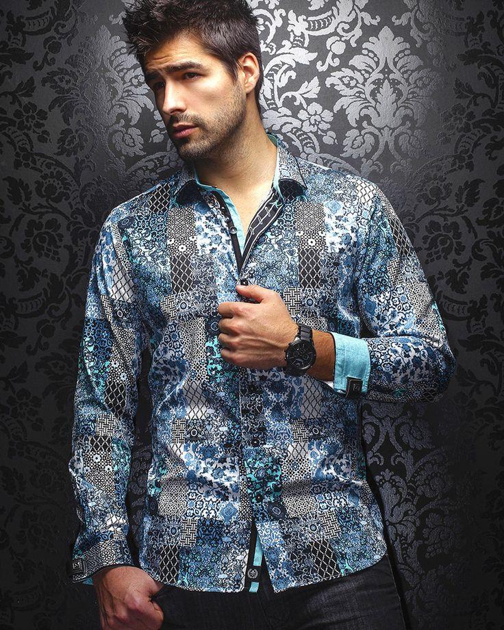 Au Noir Shirt - Fernando - Turquoise