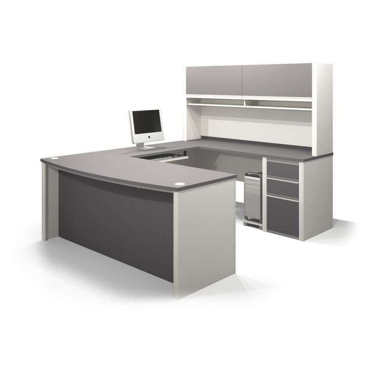 gray and white painted wooden working desk and book shelves cabinet with office desk also u shaped executive desk surprising u shaped desk with hutch ideas