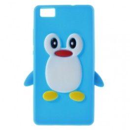 Huawei P8 Lite #sininen #pingviini silikonikuori.