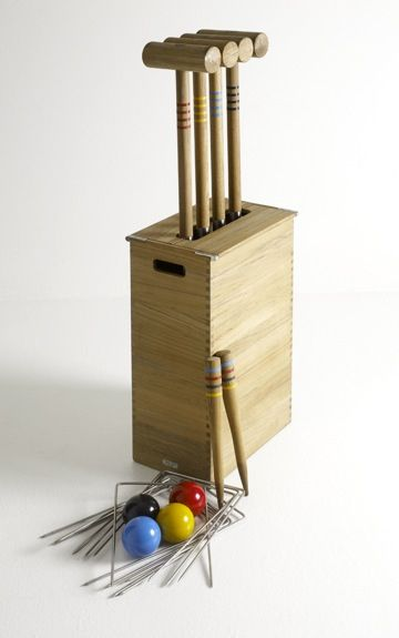 Teak Croquet set - Outdoor Collection by Design with Vision www.naturesvision.com.au