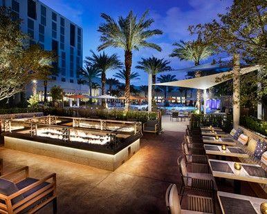 Hilton West Palm Beach Hotel, FL - Galley Bar Fire Pit