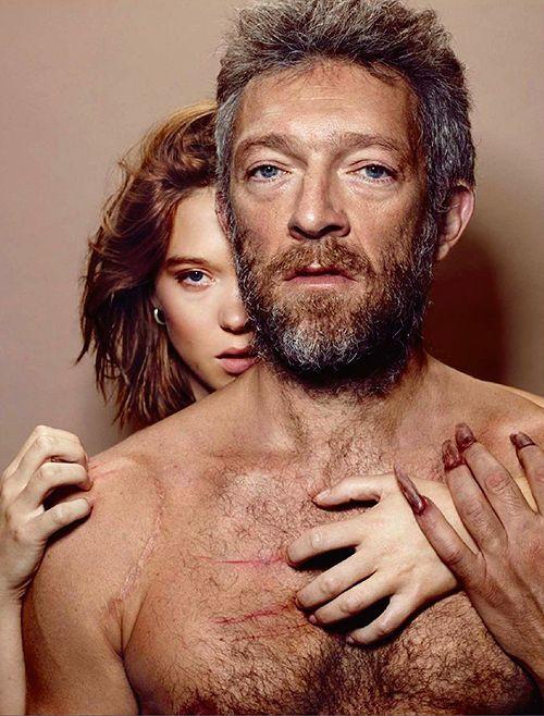 Léa Seydoux and Vincent Cassel photographed by Jean-Baptiste Mondino for Premiere.
