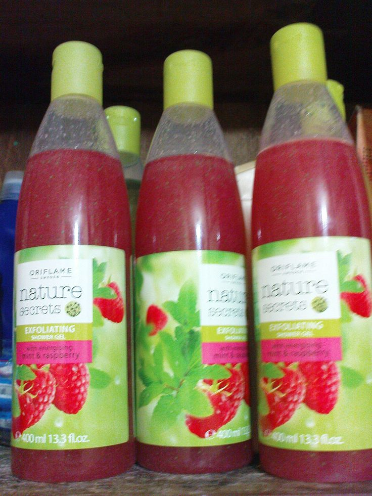 Nature Secrets Raspberry and Mint shower gel.