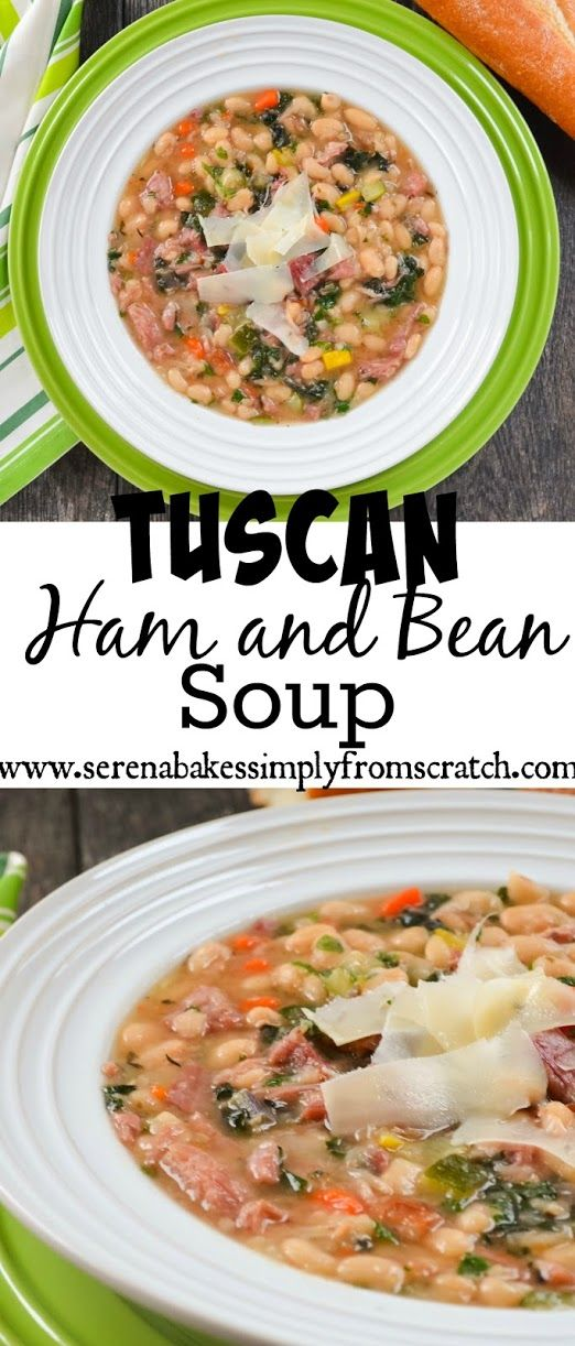Hearty Tuscan Ham and Bean Soup is AMAZING and chocked full of deliciousness!