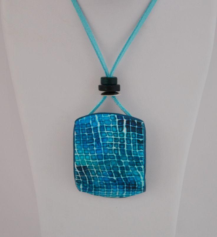 polymer clay pendant-izink ink. Šárka Štefančíková