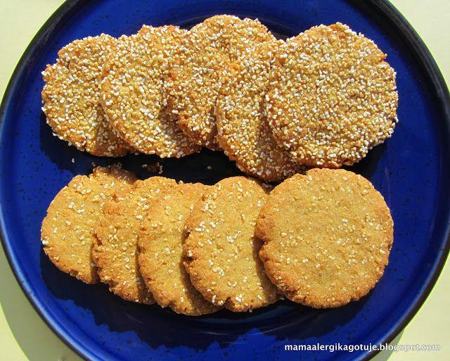 amarantuski, ciasteczka z amarantusem, bezglutenowe, wegańskie