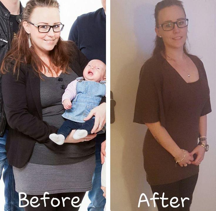 Lesley: Voor mijn 1e zwangerschap was ik altijd al wel gezet. Steeds bezig met afvallen maar nooit het gewenste resultaat. Ik ben toen tijdens mijn 1e zwangerschap ook nog eens meer dan 20 kilo aangekomen  :( Een paar weken na de bevalling kwam ik in aanraking met ons programma en heb dit een aller laatste kans gegeven om nu eens mezelf wel fijn te voelen in mijn lichaam en die kilo`s er af te krijgen. Zoals je op de foto ziet is dit mij ook gelukt  :D -25 kilo !