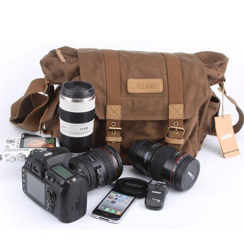CADEN Wasserdichte Canvas Digitale SLR-Kamera-Tasche Schultertasche Nikon Canon Umhängetasche SLR Kameratasche Spiegelreflex Tasche Rucksack DSLR Rucksack laptop Reisetasche (Größe: 38cm * 18cm * 28cm,Innentasche: 30cm*13cm*20cm) (braun) iDream http://www.amazon.de/dp/B00IE4Y186/ref=cm_sw_r_pi_dp_5a68wb0S8GEQ1
