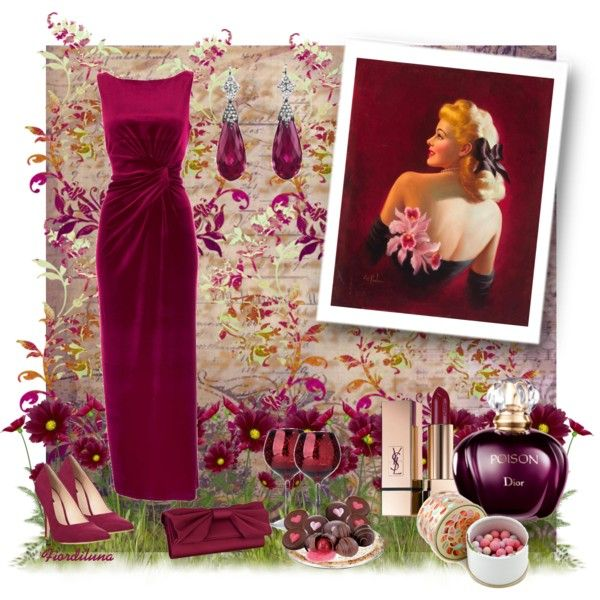 """""""The Colors: Amaranth Purple"""" by fiordiluna on Polyvore"""