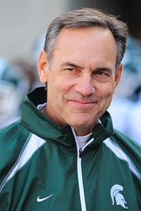 Mark Dantonio, MSU football coach. Just look at that smile pure-michigan