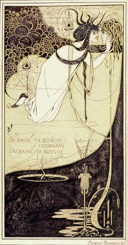 Salome: The Climax by Aubrey Beardsley, 1893. Ink and green wash ≤≥≤≥≤≥≤≥≤≥≤≥≤≥≤≥≤≥≤≥≤≥≤≥≤≥≤≥ ♥ Gaby Féerie créateur de bijoux à thèmes en modèle unique. Des pièces originales à ne pas manquer ♥ Présente.sur.pinterest.➜ https://fr.pinterest.com/JeanfbJf/pin-index-bijoux-de-gaby-f%C3%A9erie/ et.sa.boutique.➜ http://www.alittlemarket.com/boutique/gaby_feerie-132444.html