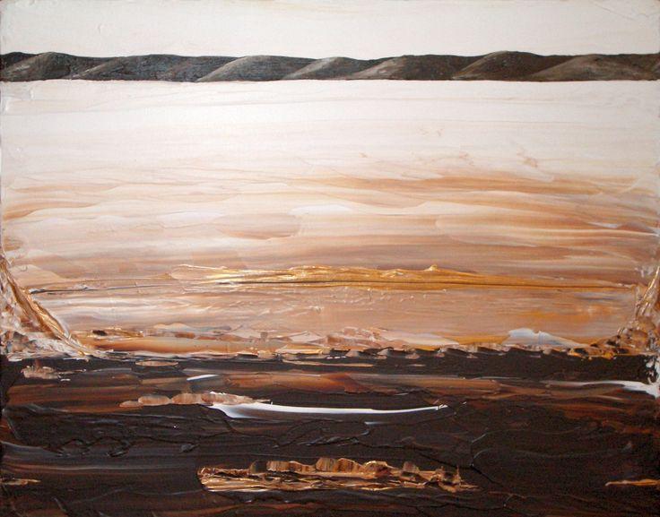 Kim Noble (Patricia) - Golden Brown landscape