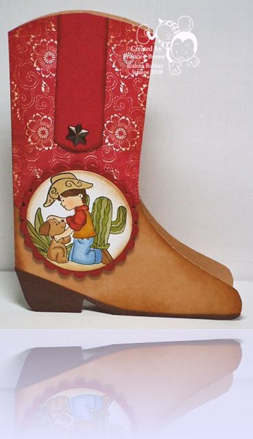 Cowboy card  -  Handmade Western Style Card