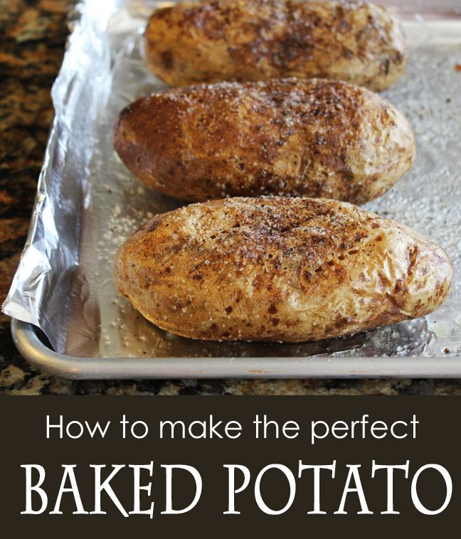 How to Make the Perfect BAKED POTATO http://jamiecooksitup.net/2013/06/how-to-make-the-perfect-baked-potato/?utm_source=feedburner_medium=email_campaign=Feed%3A+blogspot%2FrPPf+%28Jamie+Cooks+It+Up%21%29