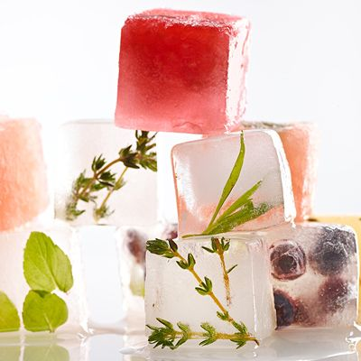 DIY Easy Flavored Ice Cubes